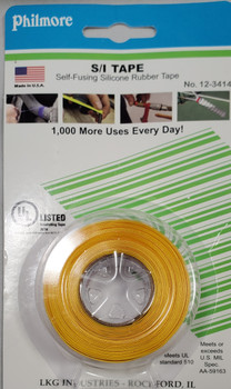 Philmore 12-3414, S/I Tape, Self-Fusing Silicone Rubber Tape, YELLOW