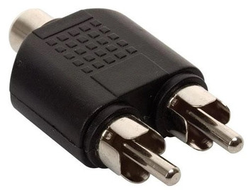 2 xRCA Plugs to RCA Jack Adaptor