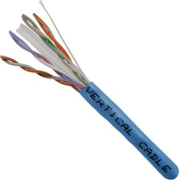 Vertical Cable Bulk Cat 6 UTP Riser Cable, Blue 1000' Box