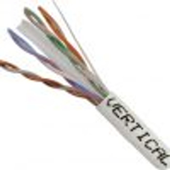 Vertical Cable Bulk Cat 6 UTP Riser Cable, White 1000' Box