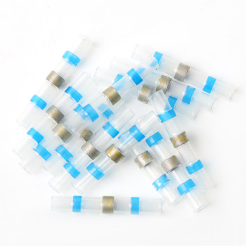 16-14 AWG Blue Solder Seal Butt Connectors, 50-pack