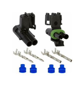 2-pin Weather Pack Sealed Connector Set, Male and Female