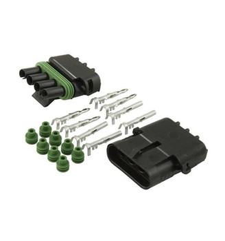 4-pin Weather Pack Sealed Connector Set, Male and Female
