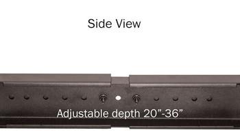 45U 4 post Open Rack, Black, Aluminum Frame, Adjustable Depth