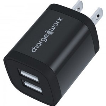 Chargeworx - 2.4 Amp Dual USB Wall Charger