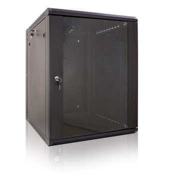 12U Wall Mount Enclosure w/Fan Vertical Cable 047-WHS-1260