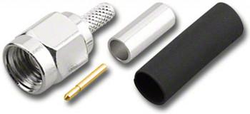SMA 50 Ohm Nickel Plated Plug (Male) Straight Crimp Connector for RG-174/U, RG316/U