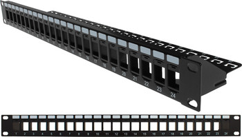 24-port 1U Unloaded Keystone Patch Panel