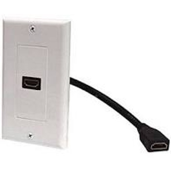HDMI 1-Port Decorator Wall Plate White