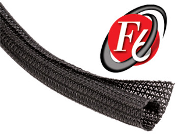 "2in. - Black Expandable Braided Sleeving ""Flexo F6"" Black Box 25ft"
