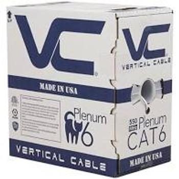 CAT6, Plenum, 23AWG, UTP, 4 Pair, Solid Bare Copper, 550MHz, 1000ft Pull Box, White