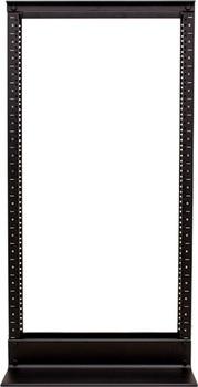 20U 2 post Open Rack, Black, Aluminum Frame