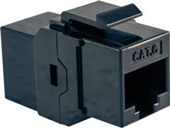 Cat 6 RJ45 Keystone Feed-thru - BLACK
