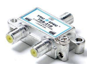 Digital 2-Port EMI Digital Antenna and Cable TV Splitter