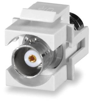BNC Keystone Connector Module, White
