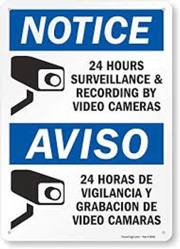12in. x 14in. Aluminum CCTV Security Sign