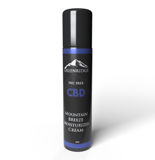 Close-up of the Mountain Breeze CBD moisturizer