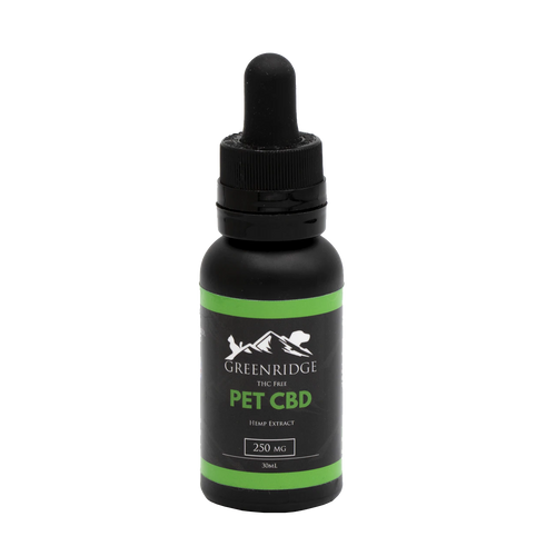 Front label of pet CBD tincture