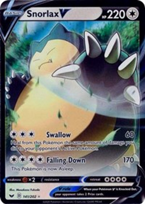 SWSH01: Sword & Shield Base Set - Snorlax V 141/202