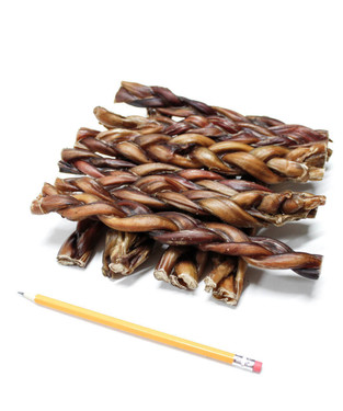 "9"" MONSTER BRAIDED BULLY STICKS - 1 Pound {APPROX. 4-5 PIECES}"