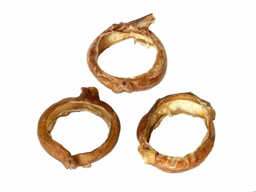 "3"" BULLY STICK CIRCLE RINGS - 10 PACK"