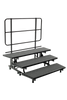 Mobile E-Z Riser - 3 Levels - Charcoal Carpet Top