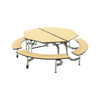 Mobile Bench Table - Octagon