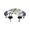 Mobile Stool and Bench Table