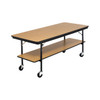 Mobile Buffet Table - Plywood Core - Two Level - Rectangle