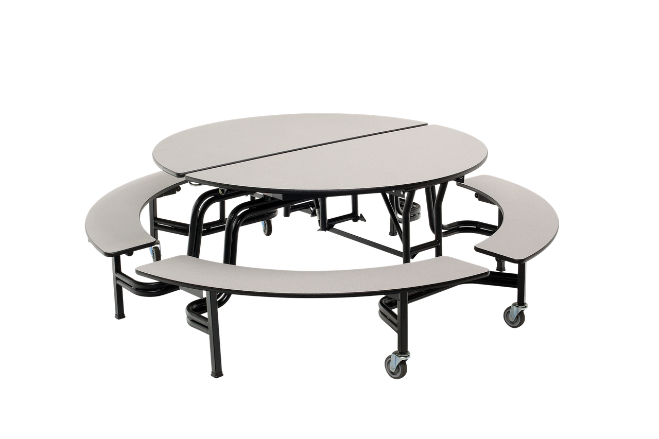 Miraculous Mobile Bench Table Round 60 Diameter 4 Benches Amtab Machost Co Dining Chair Design Ideas Machostcouk