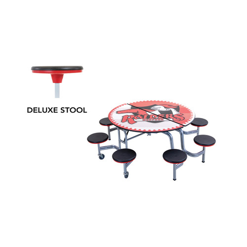 Mobile Stool Table - Round