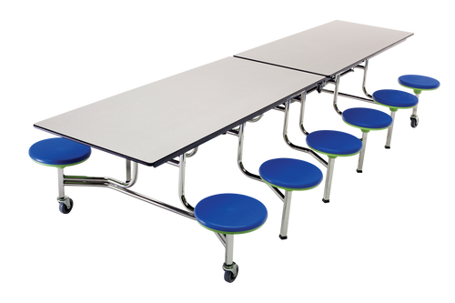 Mobile Stool Table - Rectangle 12 Feet 12 Stools