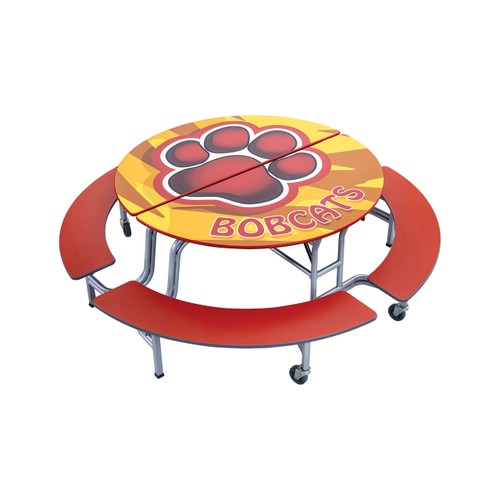 Mobile Bench Table - Round