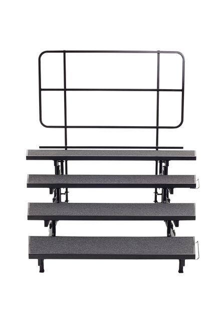 Mobile E-Z Riser - 4 Levels - Charcoal Carpet Top