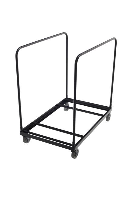 Heavy-Duty Table cart - Applicable for Round Tables - Black Metal Finish