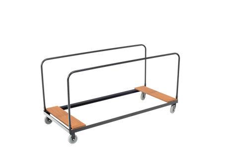 "Heavy-Duty Table cart - Applicable for 30""W x 48""L x 32""H - Black Metal Finish"