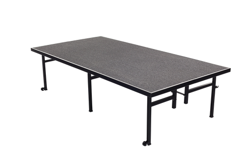 Fixed Height Stage - Charcoal Carpet Top
