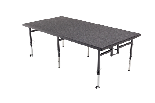 Adjustable Height Stage - Charcoal Carpet Top