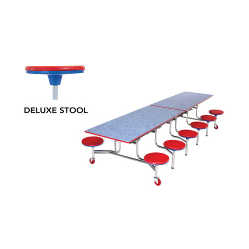 Mobile Stool Table - Rectangle