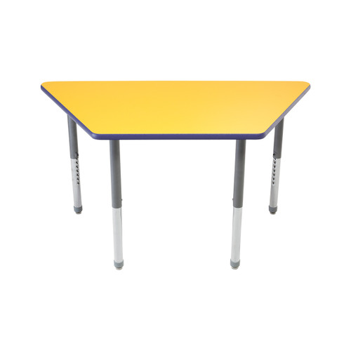 Whiteboard Table / Markerboard Table / Dry Erase Tables - Activity Legs - Trapezoid