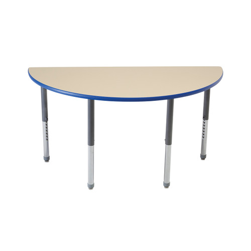 Whiteboard Table / Markerboard Table / Dry Erase Tables - Activity Legs - Half Round
