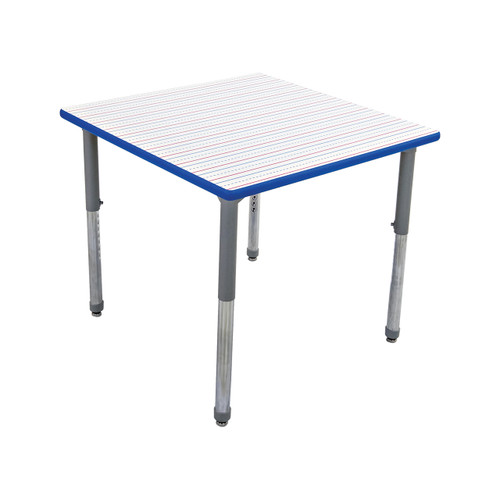 Whiteboard Table / Markerboard Table / Dry Erase Tables - Activity Legs - Square
