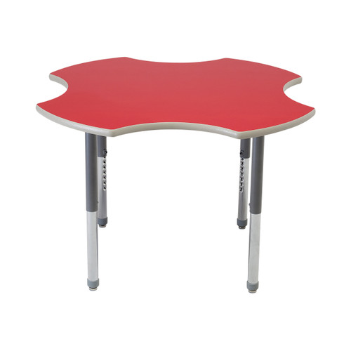 Whiteboard Table / Markerboard Table / Dry Erase Tables - Activity Legs - Clover