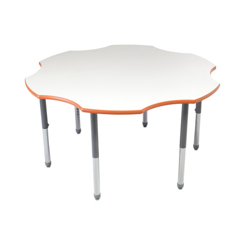 Whiteboard Table / Markerboard Table / Dry Erase Tables - Activity Legs - Flower