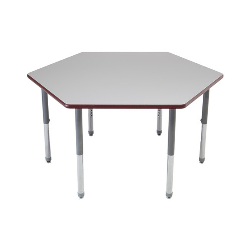 Whiteboard Table / Markerboard Table / Dry Erase Tables - Activity Legs - Hexagon