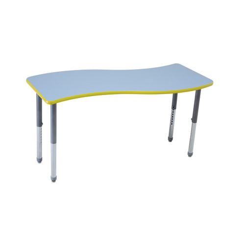 Whiteboard Table / Markerboard Table / Dry Erase Tables - Activity Legs - Wave