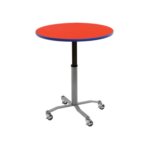 Whiteboard Table / Markerboard Table / Dry Erase Tables - Mobile EZ-Tilt Café Table - Round