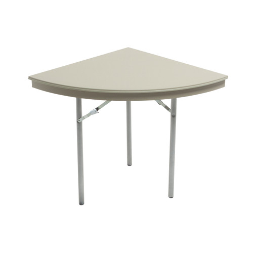 Dynalite Featherweight Heavy-Duty ABS Plastic Folding Table - Quarter Round