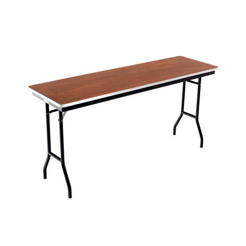 Folding Tables - Plywood Stained and Sealed- Aluminum Edge - Rectangle