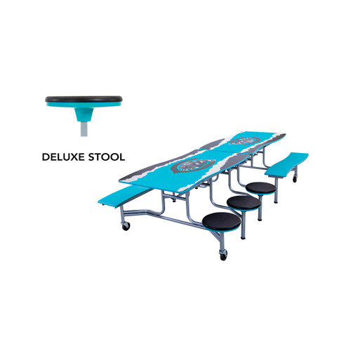 Mobile Bench and Stool Table - Wave